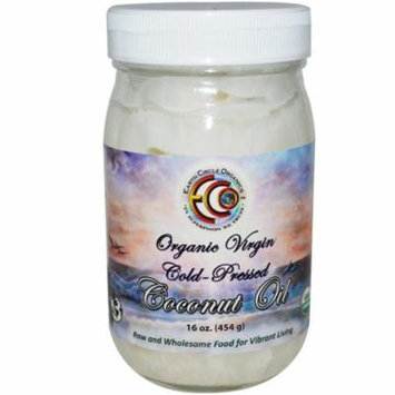 Earth Circle Organics, Coconut Oil, Organic, Virgin, 16 oz(pack of 1)
