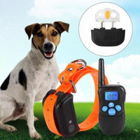 Walfront 100% Waterproof and Rechargeable Dog Shock Collar 330 yd Remote Dog Training Collar with Beep/Vibrating/Shock Electric E-collar