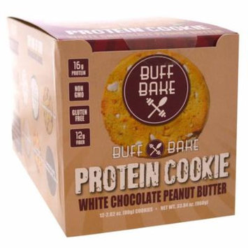 Buff Bake, Protein Cookie, White Chocolate Peanut Butter, 12 Cookies, 2.82 oz (80 g) Each(pack of 1)