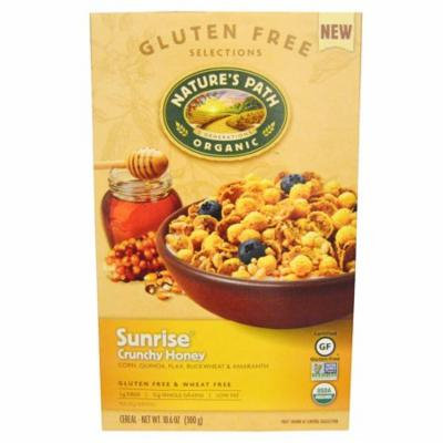 Nature's Path, Organic Sunrise Crunchy Honey Cereal, 10.6 oz (pack of 3)