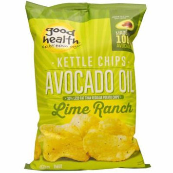Good Health Natural Foods, Kettle Chips, Avocado Oil, Lime Ranch, 5 oz (pack of 12)