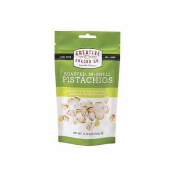CREATIVE ROASTED SALTED IN-SHELL PISTACHIOS, 2.75 OZ