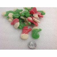 Gummi Snowmen sugar sanded snowman Gummy Christmas Candy 1 pound