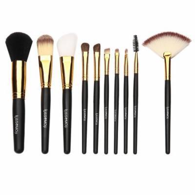 IFair Mall Makeup Brush Set Pouch Bag Face Powder Brush Makeup Brush Kit 10 PCS SPTE