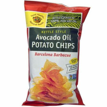 Good Health Natural Foods, Kettle Style Avocado Oil Potato Chips, Barbecue Flavored, 5 oz (pack of 12)