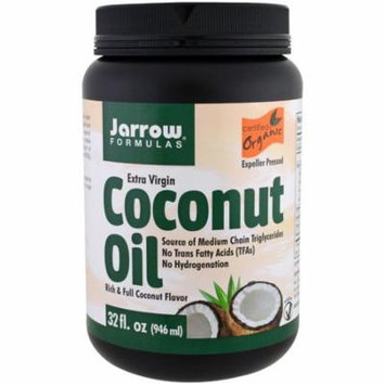 Jarrow Formulas, Organic Extra Virgin Coconut Oil, Expeller Pressed, 32 fl oz (pack of 4)