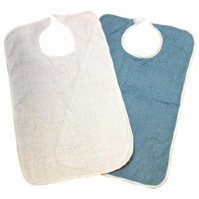 Beck's Classic Bib Hook and Loop Closure, Reusable, Terry Cloth, Dozen of 12