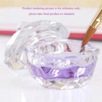 New Nail Art Acrylic Crystal Glass Dappen Dish Bowl Cup Clear Nail Tools