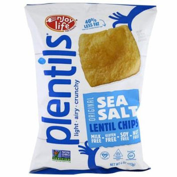 Enjoy Life Foods, Plentils, Sea Salt Lentil Chips, Original, 4 oz (pack of 6)