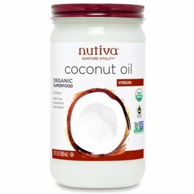 Nutiva, Organic Coconut Oil, Virgin, 23 fl oz (pack of 3)