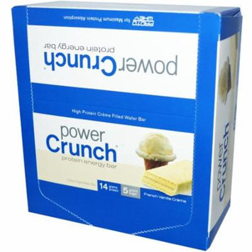 BNRG, Power Crunch Protein Energy Bar, French Vanilla Creme, 12 Bars, 1.4 oz (40 g) Each(pack of 6)
