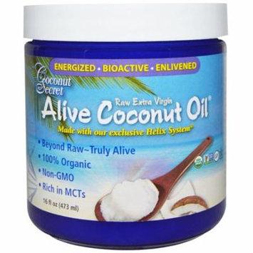 Coconut Secret, Organic Alive Coconut Oil, Raw Extra Virgin, 16 fl oz (pack of 3)