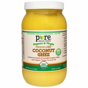 Pure Indian Foods, Coconut Ghee, Organic & Virgin PrimalFat, 15 oz (pack of 2)