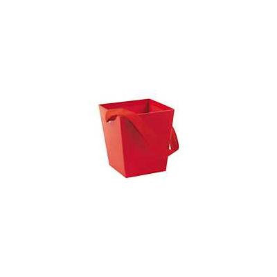 Red Candy Buckets with Ribbon Handle Pack of 12