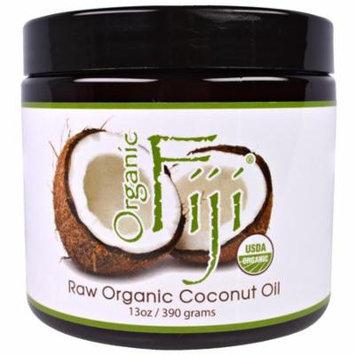 Organic Fiji, Raw Organic Coconut Oil, 13 oz (pack of 2)