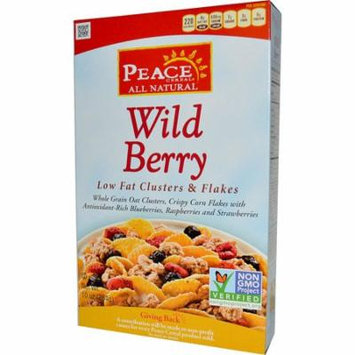 Peace Cereal, Low Fat Clusters & Flakes, Wild Berry, 10 oz (pack of 2)