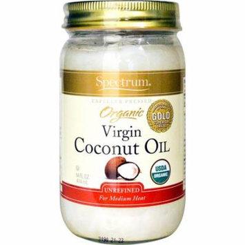 Spectrum Naturals, Organic Virgin Coconut Oil, Unrefined, 14 fl oz (pack of 1)