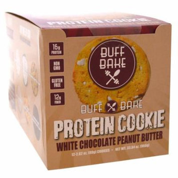 Buff Bake, Protein Cookie, White Chocolate Peanut Butter, 12 Cookies, 2.82 oz (80 g) Each(pack of 2)