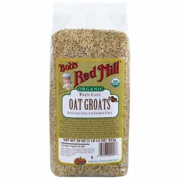 Bob's Red Mill, Organic Whole Grain Oat Groats, 29 oz (pack of 12)
