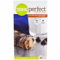 ZonePerfect, Nutrition Bars, Chocolate Chip Cookie Dough, 12 Bars, 1.58 oz (45 g) Each(pack of 4)