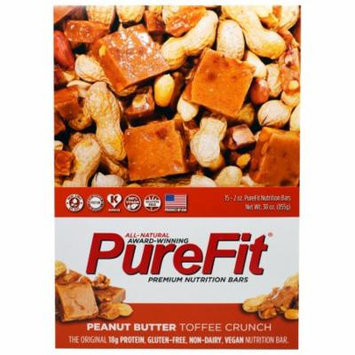Pure Fit Bars, Premium Nutrition Bars, Peanut Butter Toffee Crunch, 15 Bars, 2 oz (57 g) Each(pack of 1)