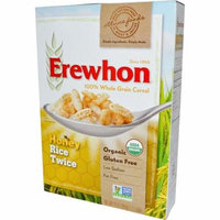 Erewhon, Honey Rice Twice Cereal, 10 oz (pack of 12)