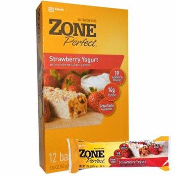 ZonePerfect, Nutrition Bars, Strawberry Yogurt, 12 Bars, 1.76 oz (50 g) Each(pack of 1)