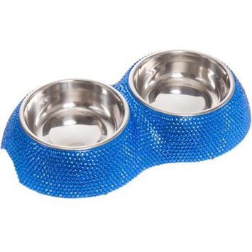 Crystal Rhinestone Stainless Steel Small Dog Fashion Pet Bowl Feeder