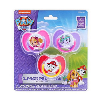 PAW Patrol 3 Count Pacifiers - Pink Purple & Red