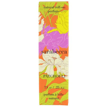 Sarabecca, Natural Roll-On Perfume, Patchouli, .25 fl oz (7.5 ml) [Scent : Patchouli]