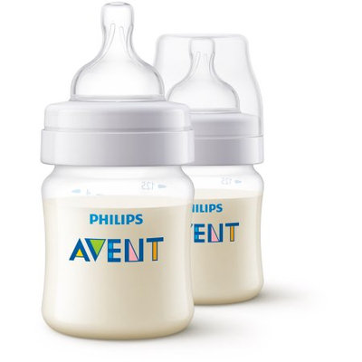 Philips Avent SCF400/27 Anti-colic bottle, Clear, 4oz, 2pk