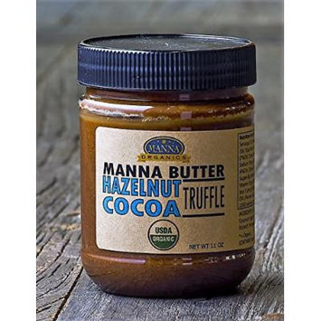 Organic Chocolate Hazelnut Spread Truffle Butter (11 oz), by Manna Organics