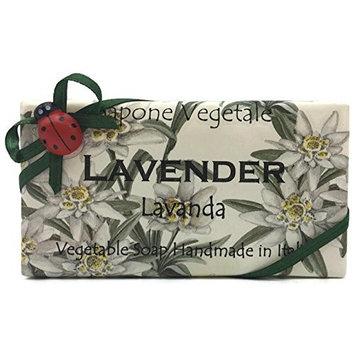 Alchimia Lavanda (Lavender) Vegetable Soap Handmade In Italy - 10.5 oz Soap Bar