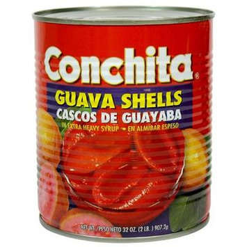 Conchita Guava Shells in Extra Heavy Syrup,32oz, Cascos de Guayaba en Alimibar Espeso (1 can)