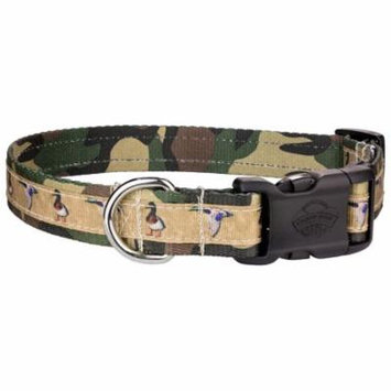 Country Brook Design® Deluxe Duck Camo Ribbon Dog Collar
