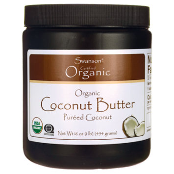 Swanson Organic Coconut Butter Pureed Coconut 16 oz Solid Oil