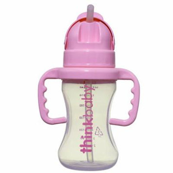Thinkster Straw Bottle, Pink By Thinkbaby