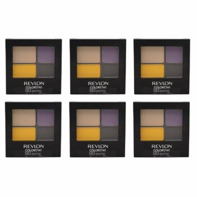 Revlon Colorstay 16 Hr Eye Shadow - Exotic (583) - 0.16 oz (Pack of 6) + Beyond BodiHeat Patch, 1 Ct