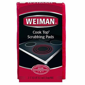 Cook Top Scrubbing Pads,3 Pads, 6 Count By Weiman