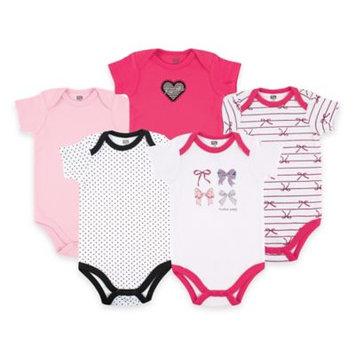 Hudson Baby Newborn Baby Girls Bodysuit 5-Pack - Bows