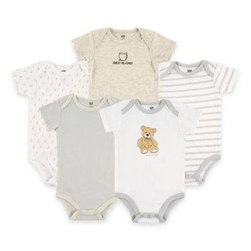 Hudson Baby Newborn Baby Neutral 5 Pack Bodysuit - Bear