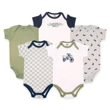 Hudson Baby Newborn Baby Boys 5 Pack Bodysuit - Dirt Bike