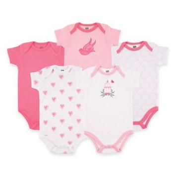 Hudson Baby Newborn Baby Girls Bodysuit 5-Pack - Bird Cage