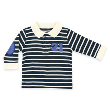 Hudson Baby Newborn Baby Boys Long Sleeve Rugby Shirt - Twenty One