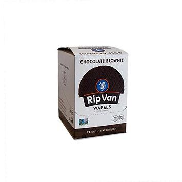 Rip Van Wafels Non-GMO Snack Wafels, Chocolate Brownie, 48 Count, 55.68 OZ, low calorie & low sugar [Chocolate Brownie]