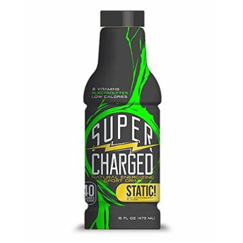 SuperCharged Natural Sport Drink, Kiwi Strawberry, 16 Ounce Bottles (Pack of 12)