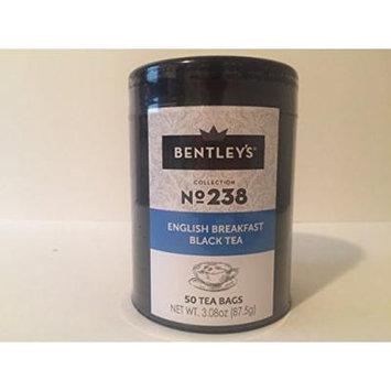 Bentley's harmony tin collection English breakfast black tea 50 tea bags (pack of 3)