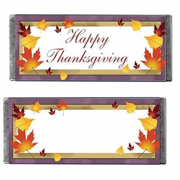 Happy Thanksgiving Candy Bars, 12 Pack (Milk Chocolate Crisp)