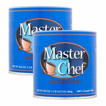 Master Chef Coffee, Medium Roast Ground, 30.5 Ounce, 2 Pack