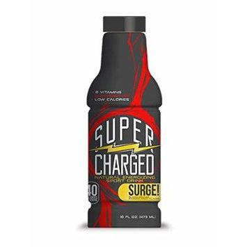 SuperCharged Natural Sport Drink, Blood Orange, 16 Ounce Bottles (Pack of 12)